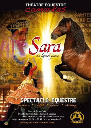 Theatre Equestre Camarkas : Spectacle Sara, la légende gitane