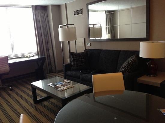 Avenue Suites Georgetown:                                     living room