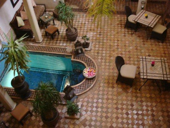 Riad Zayane:                   view from balcony