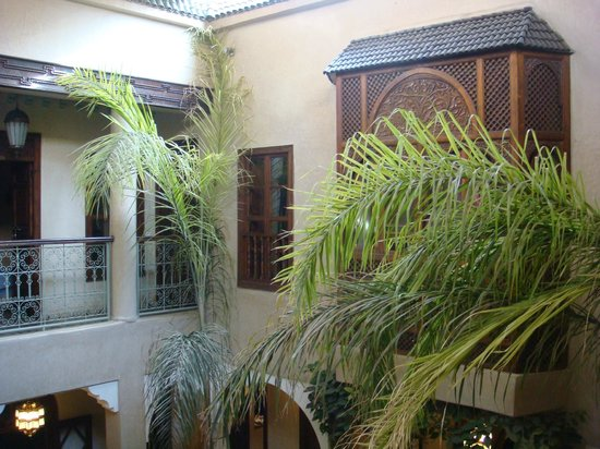 Riad Zayane:                   view from balcony