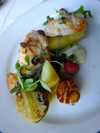 Fairmont Resort Blue Mountains - MGallery Collection:                   Lobster dish in Eucalypt - fantastic.