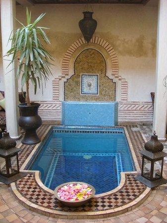 Riad Zayane:                   Courtyard pool