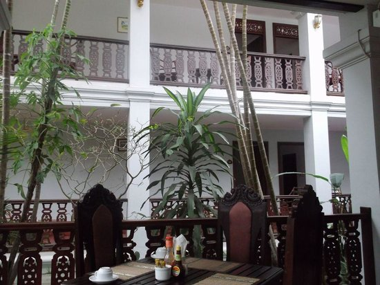 Chitchareune Mouang Luang Hotel:                                     The hotel from the restaurant.