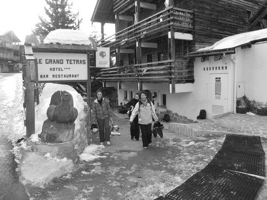 Hotel Grand Tetras:                                     entrée de l'hotel