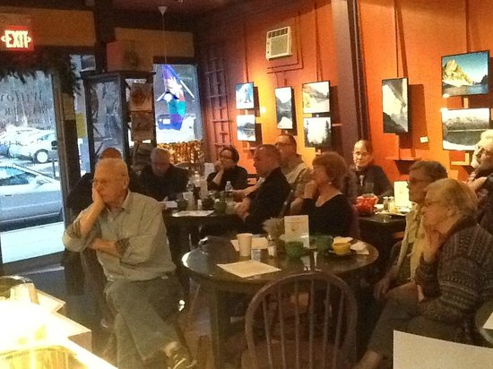 Willows Bistro :                   Area writers read from their works to supportive audiences.