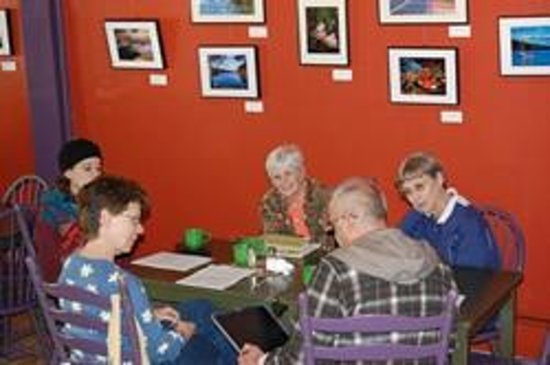 Willows Bistro:                   A local group meets for discussion over coffee and scones