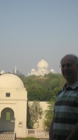 The Oberoi Amarvilas:                   View of Taj Mahal from balcony.