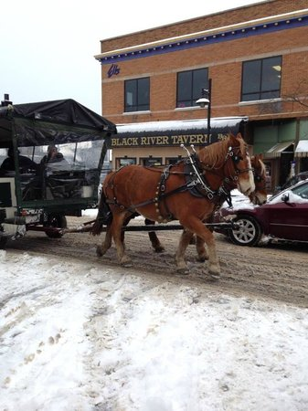 Black River Tavern: Horse drawn carriages Ice Breaker 2013