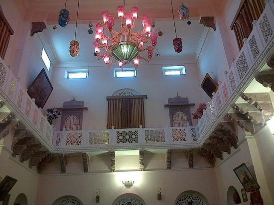 The Kothi Heritage:                   Chadelier in the Main Hall