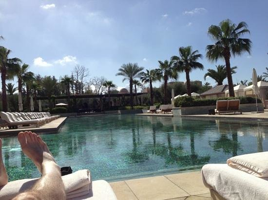 Four Seasons Resort Marrakech:                   chilling by the pool