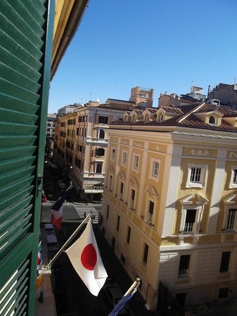 Hotel Diocleziano:                                                       View from hotel room - at front of hotel 4