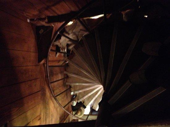 Dam Steakhouse:                   Steep staircase