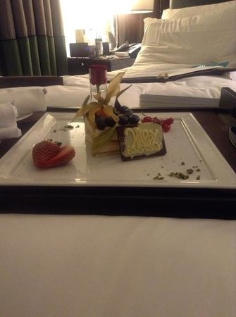 Sofitel London St James:                   homemade birthday treat
