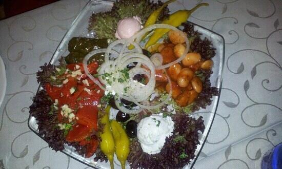 Restaurant Mykonos:                   Vorspeisenplatte