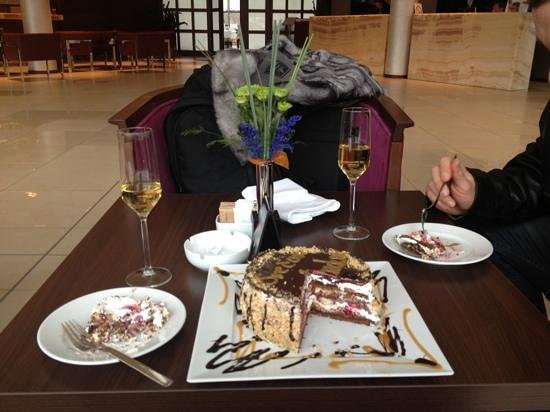 Hotel Premier Aqua:                   They surprised me with a cake and champagne on my birthday!