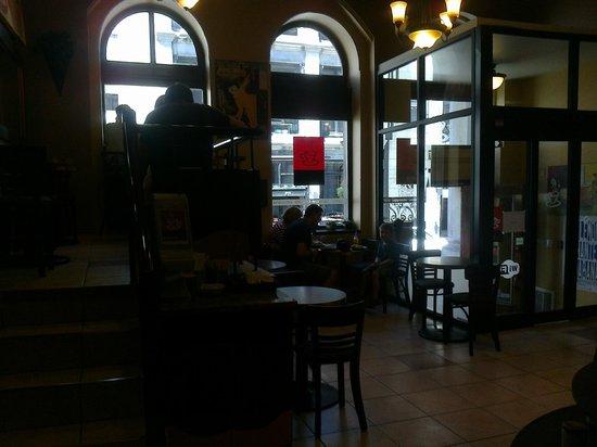 Espace Cafe & Espresso Bar :                   Cozy interior, with mezzanine floor, great for reading a book!