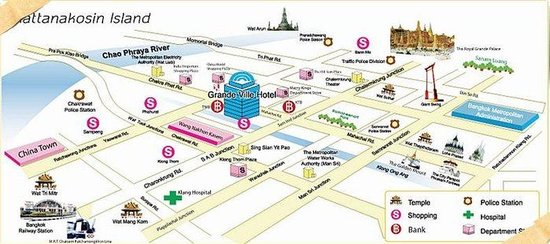 جراندي فيلي هوتل: Map