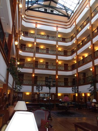 The Oberoi Cecil, Shimla:                   View up from lounge level