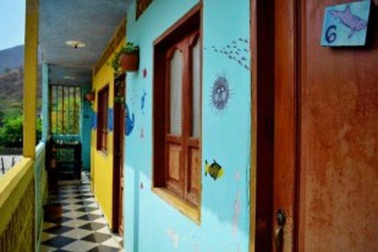Hotel Oso Perezoso: Second Floor Hallway