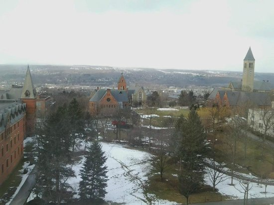 The Statler Hotel at Cornell University:                   View from our 7th Floor Room