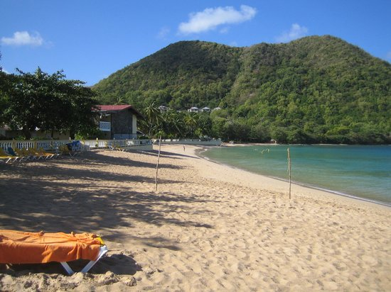 St. Lucian by Rex Resorts:                   South end of Reduit Beach