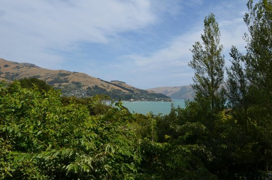 Akaroa Cottages - Heritage Collection:                   View into Akaroa