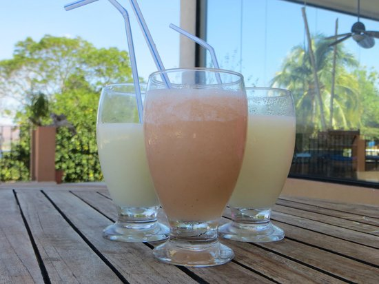 Paradise Flamingo Beach:                   Tropical drinks on the patio
