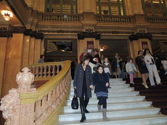 Teatro Colon:                   Escalinata de ingreso al Teatro Colón                 