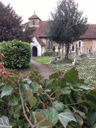 Mercure Letchworth Hall:                   pretty church next door to hotel