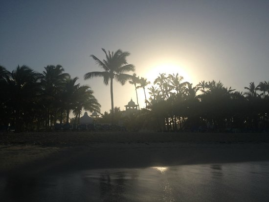 Hotel Riu Palace Punta Cana:                                     view of hotel from the beach