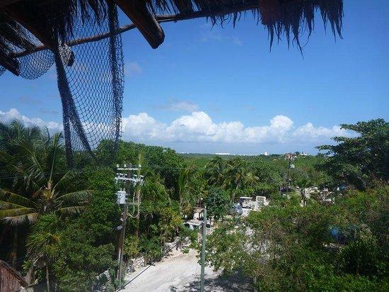 Tanik Condominiums:                   View from the door