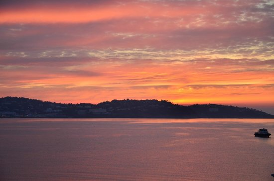 The Sands Hotel:                   Sunrise over Torbay, taken from bedroom window.