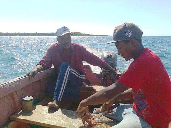 Playa Caleta La Romana: sulla barca