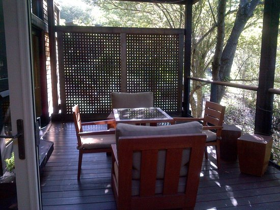 Calistoga Ranch, An Auberge Resort:                                     Our own private deck