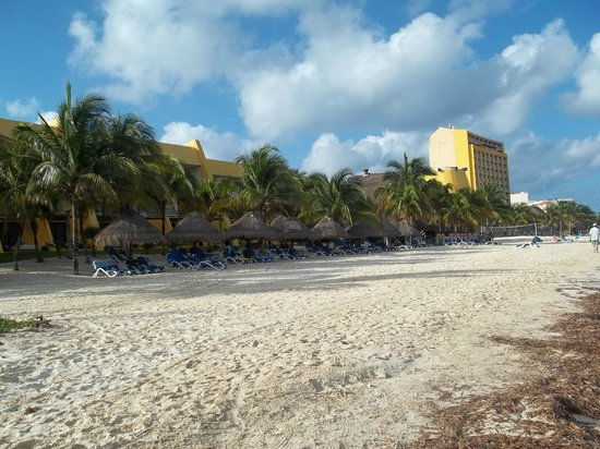Melia Cozumel Golf - All Inclusive:                                     View from beach to the north