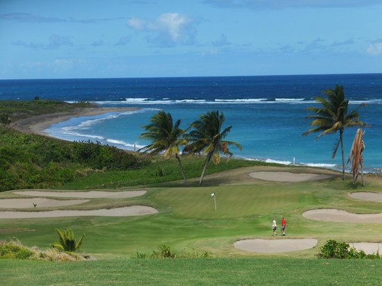 Royal St. Kitts Golf Club: view from tee off of 15th