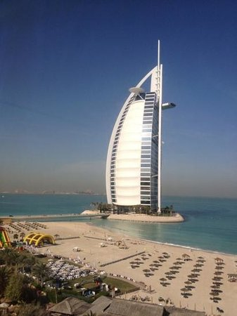Jumeirah Beach Hotel:                                     our view