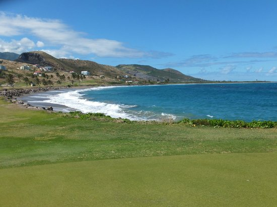 South Coast, St. Kitts: ocean view from the course