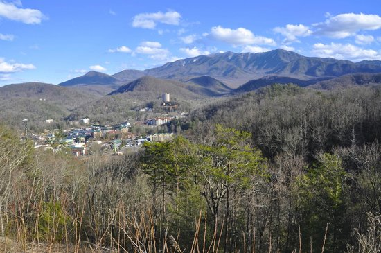 Eight Gables Inn:                   Gatlinburg from one of many views