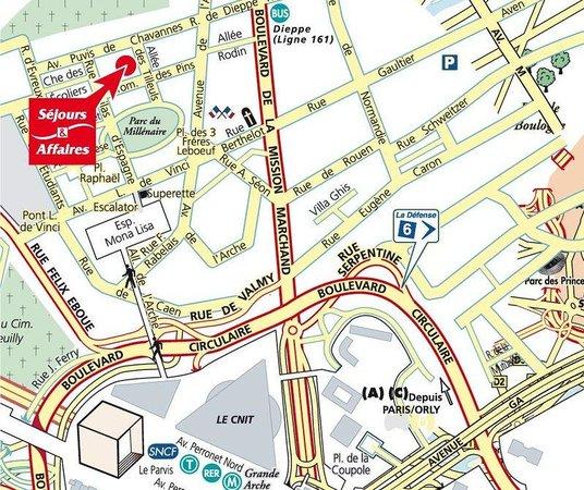 Sejours & Affaires Grande Arche: Location map