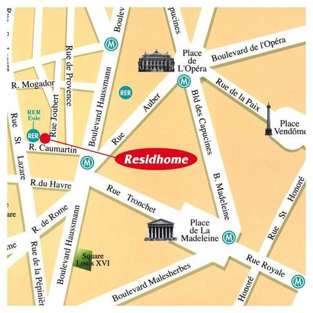 Residhome Paris-Opera: Location map