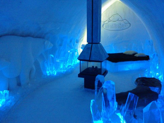 Hotel de Glace:                   The Premier Room if you have the $$$