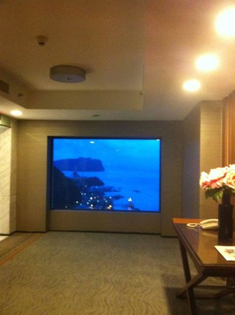 Four Points by Sheraton Sandakan:                   Fantastic view from lift lobby