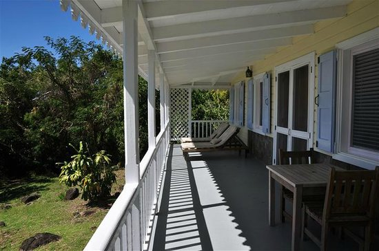 Banyan Tree Bed and Breakfast:                   West faced porch