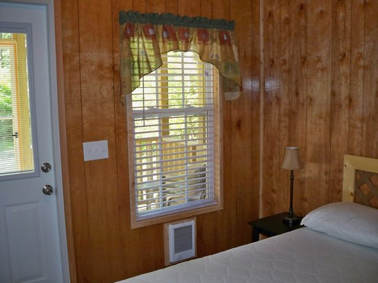 Yogi Bear's Jellystone Park Cherokee:                   Front bedroom in two room camping cabin