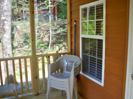 Yogi Bear's Jellystone Park Cherokee:                   Screened in porch