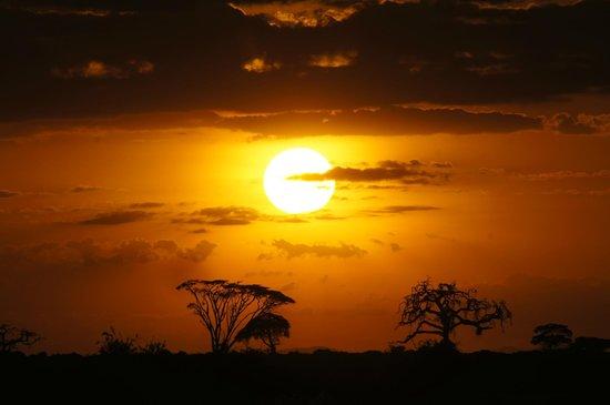 Tortilis Camp:                   Najpiękniejszy zachód słońca...ever!