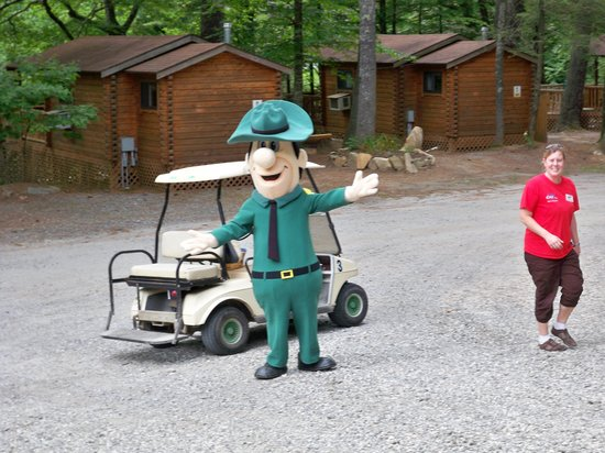 Yogi Bear's Jellystone Park Cherokee:                   The ranger out for a visit
