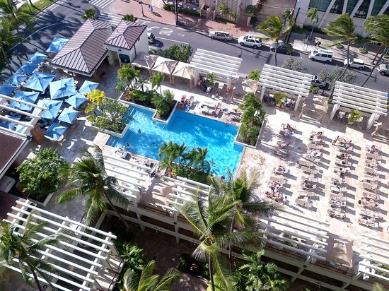 Waikiki Beach Marriott Resort & Spa:                   Pool view from our room                 