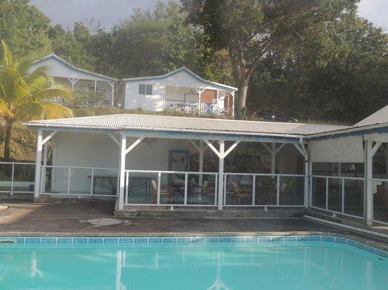 Le Jardin Tropical:                   la piscine bien sécurisée